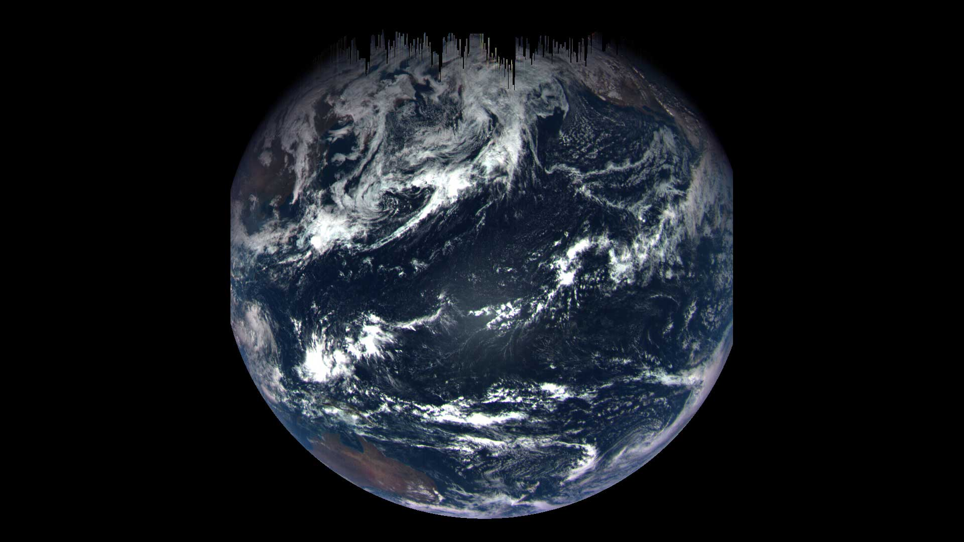 A color composite image of Earth taken on Sept. 22, 2017 by the MapCam camera on NASA's OSIRIS-REx spacecraft.