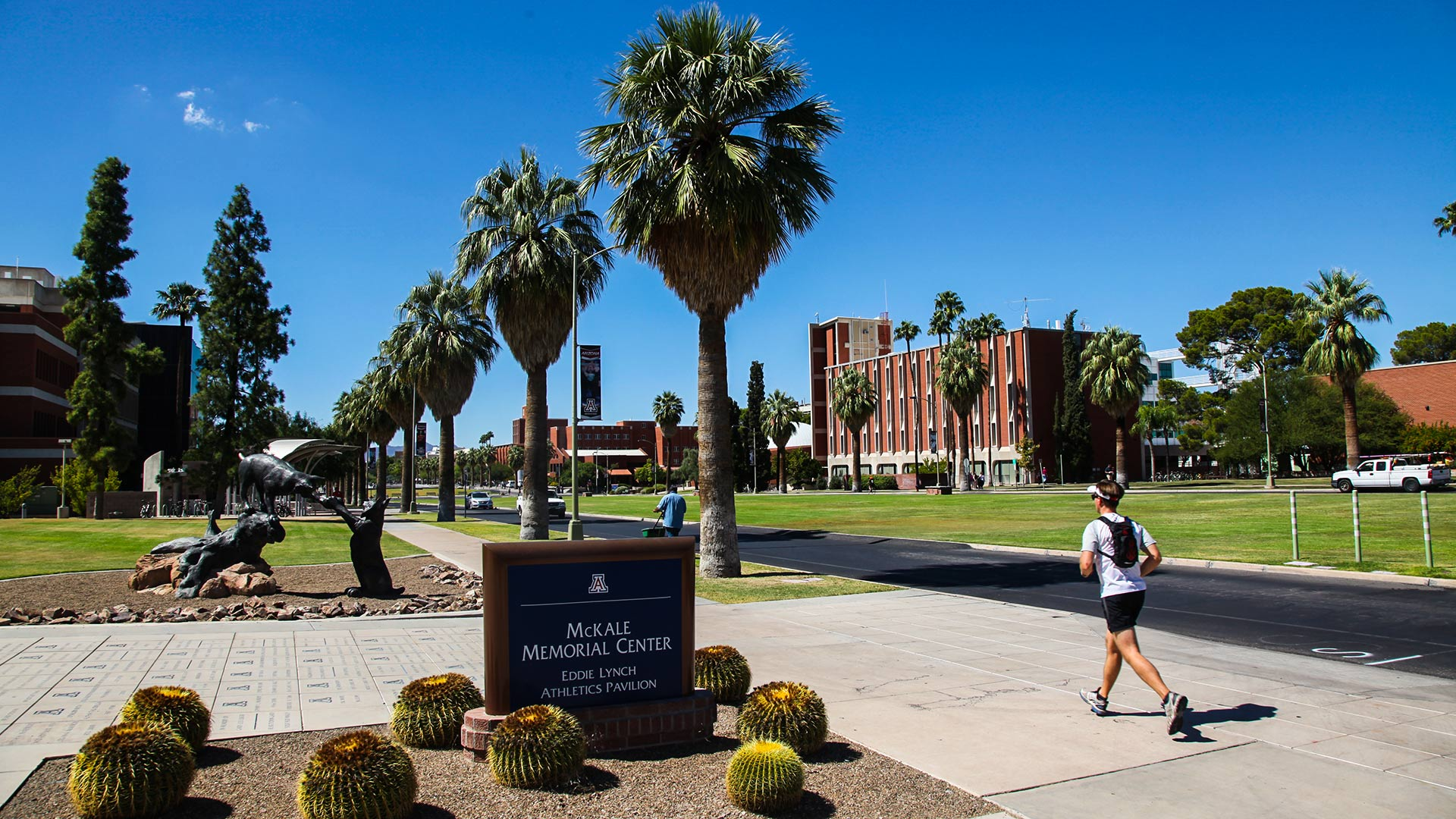 The McKale Memorial Center, home of the University of Arizona basketball team, on the UA campus.
