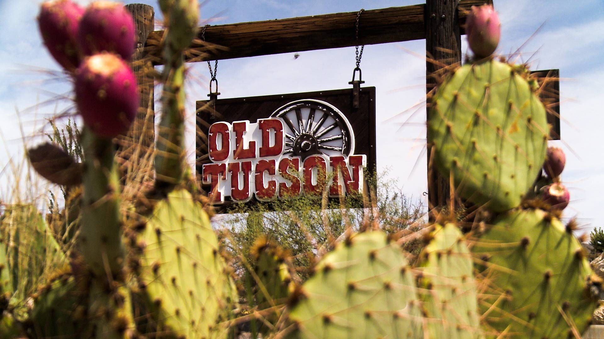 The sign for Old Tucson.