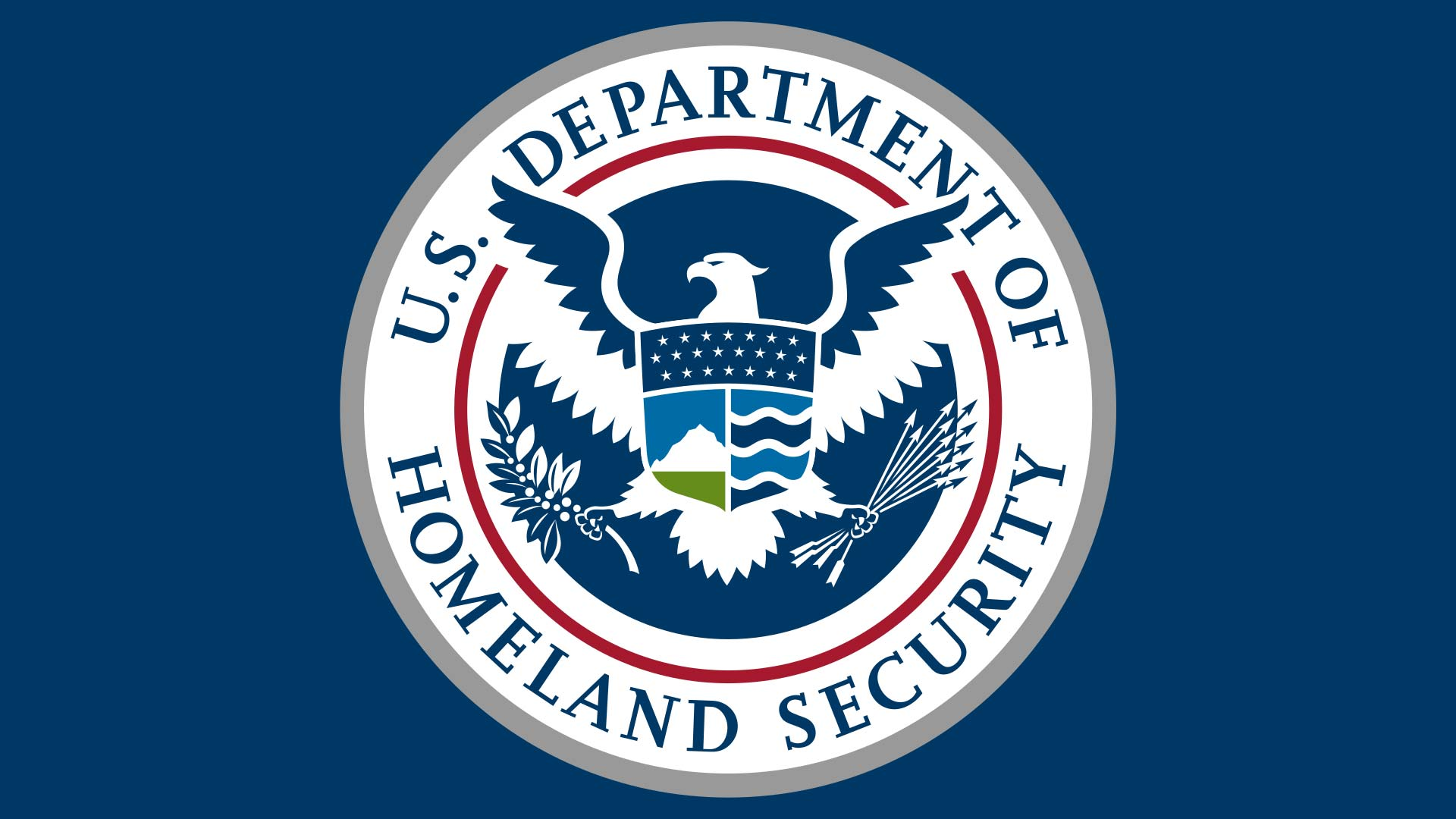 The seal of the Department of Homeland Security.