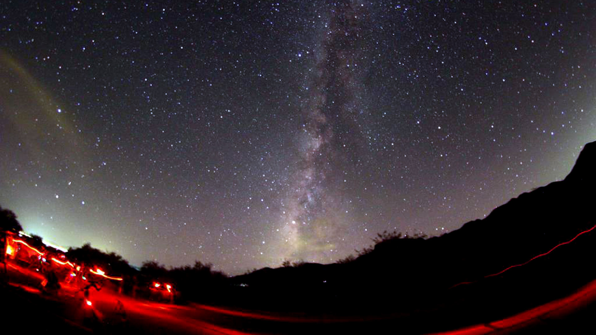 Star-gazing at Kartchner Caverns State Park.