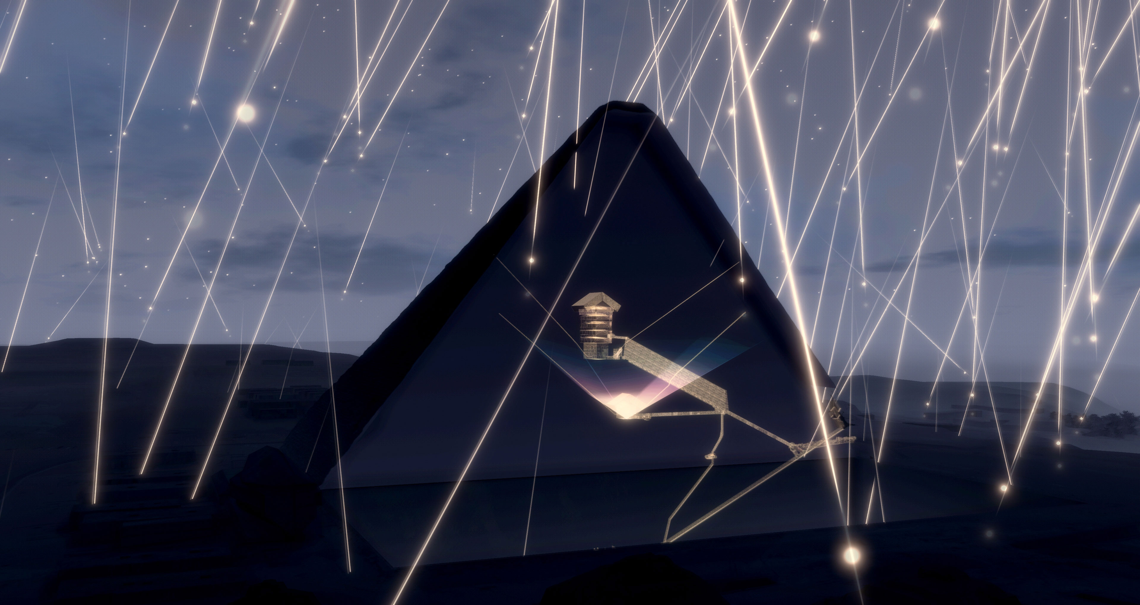 Cosmic ray muons on the cut of Khufu pyramid