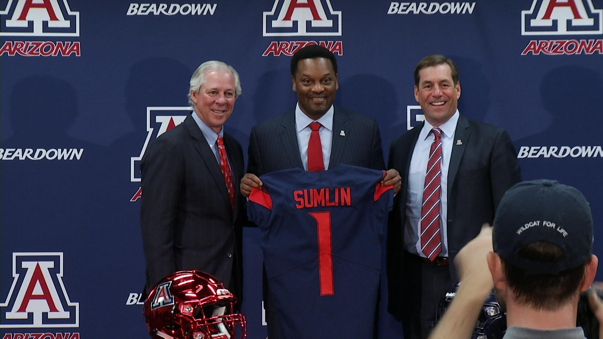 Kevin Sumlin is welcomed as the head coach of Arizona football.
