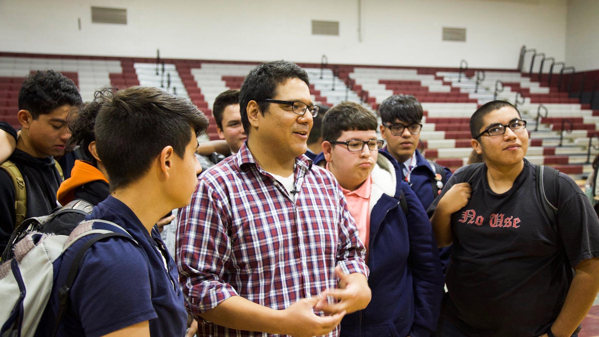 Cadena students view larger