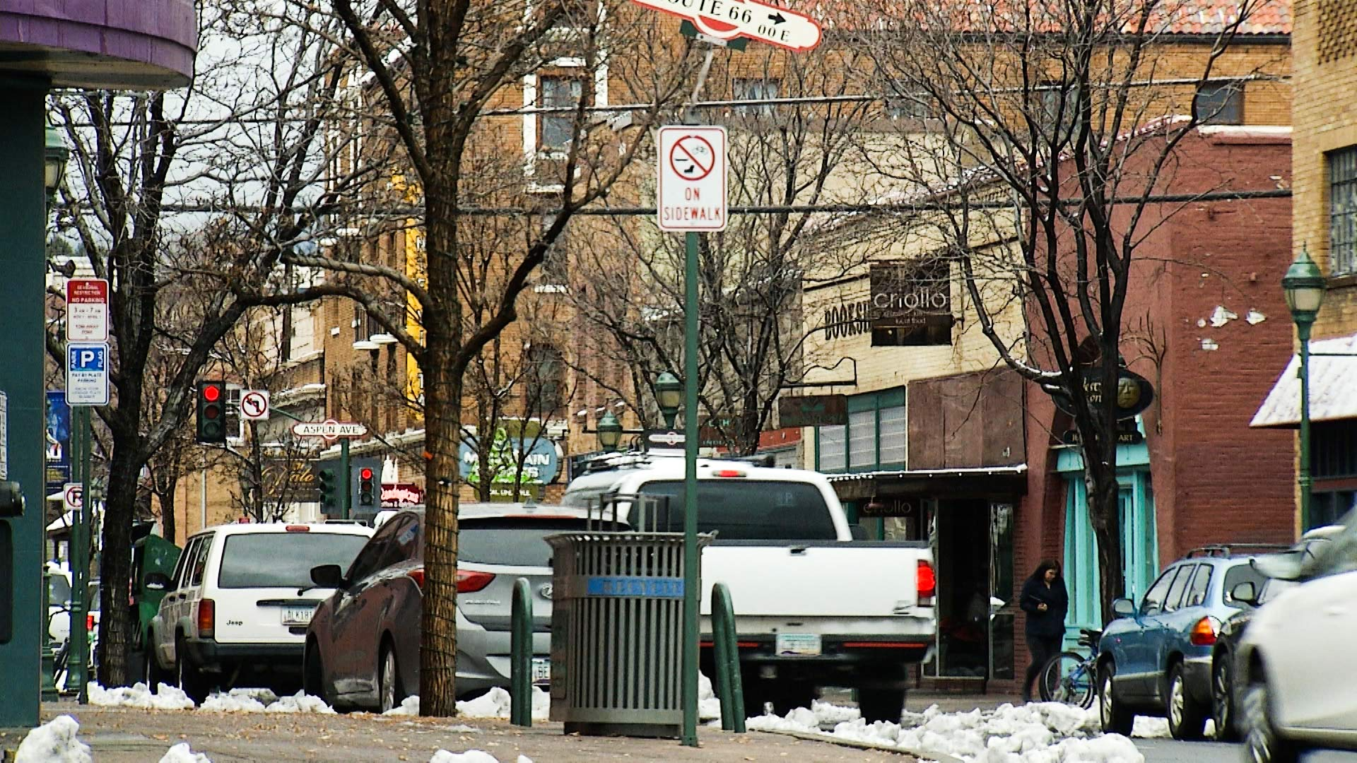 San Francisco Street in Flagstaff, January 2018.