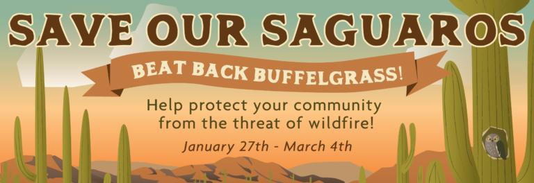 Sign Beat Back Buffle Grass