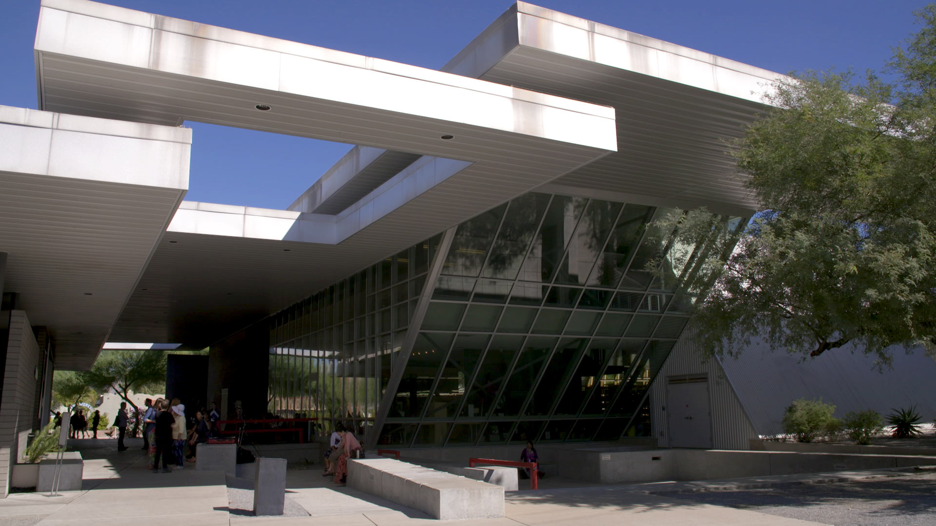 The exterior of the University of Arizona Poetry Center.