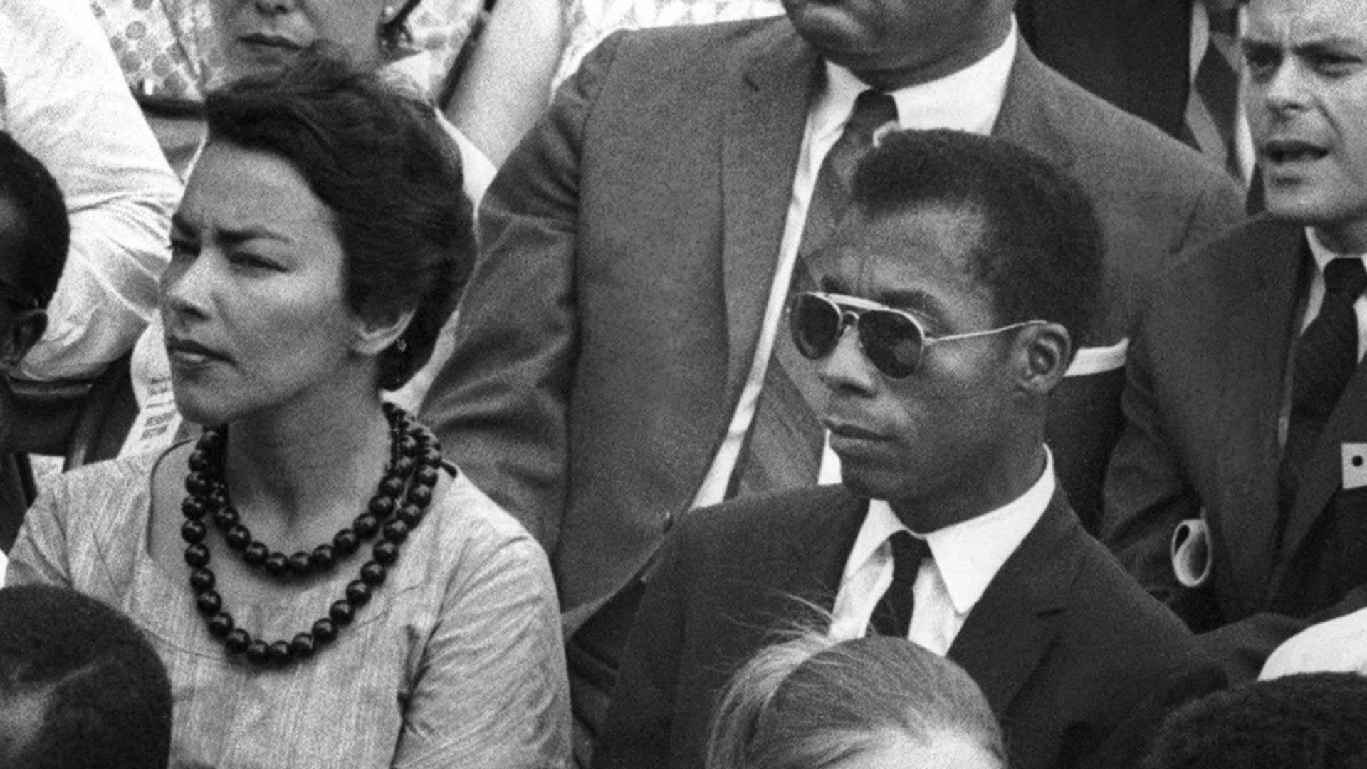James Baldwin in the crowd. March on Washington for Jobs and Freedom, 28 August 1963, Washington