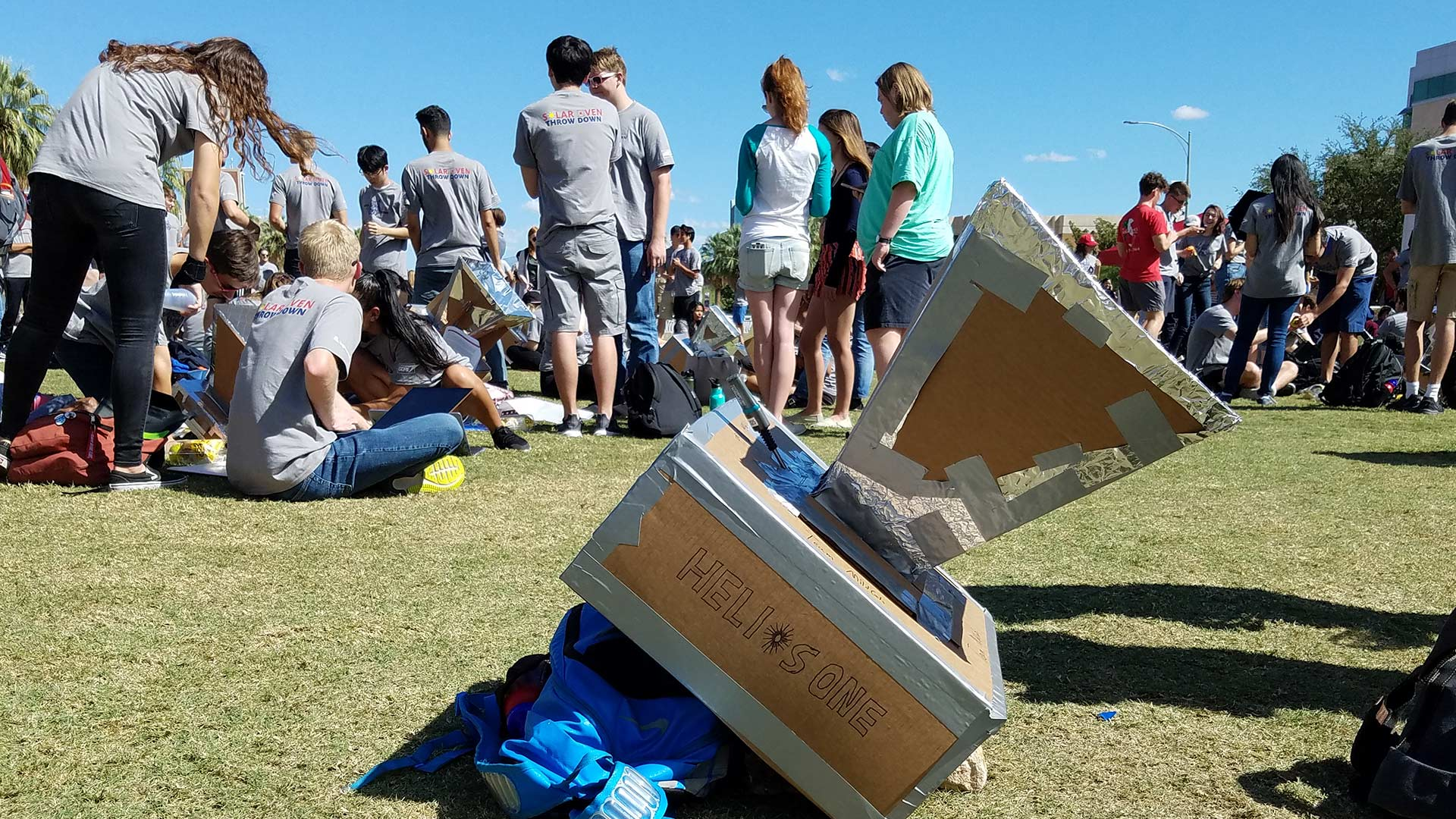 One team's solar oven, called Helios One.