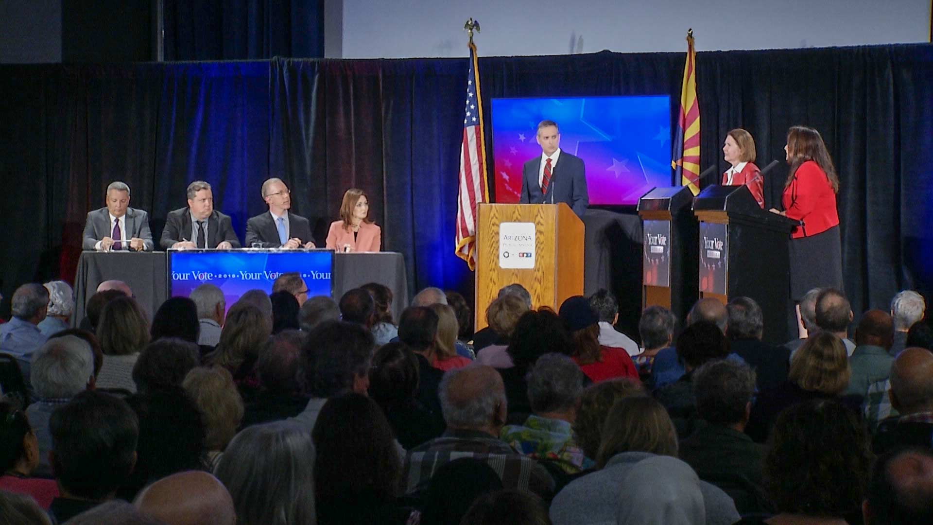 Arizona Public Media's Your Vote 2018 2nd Congressional District Debate held at the Tucson Jewish Community Center on Oct. 9, 2018.