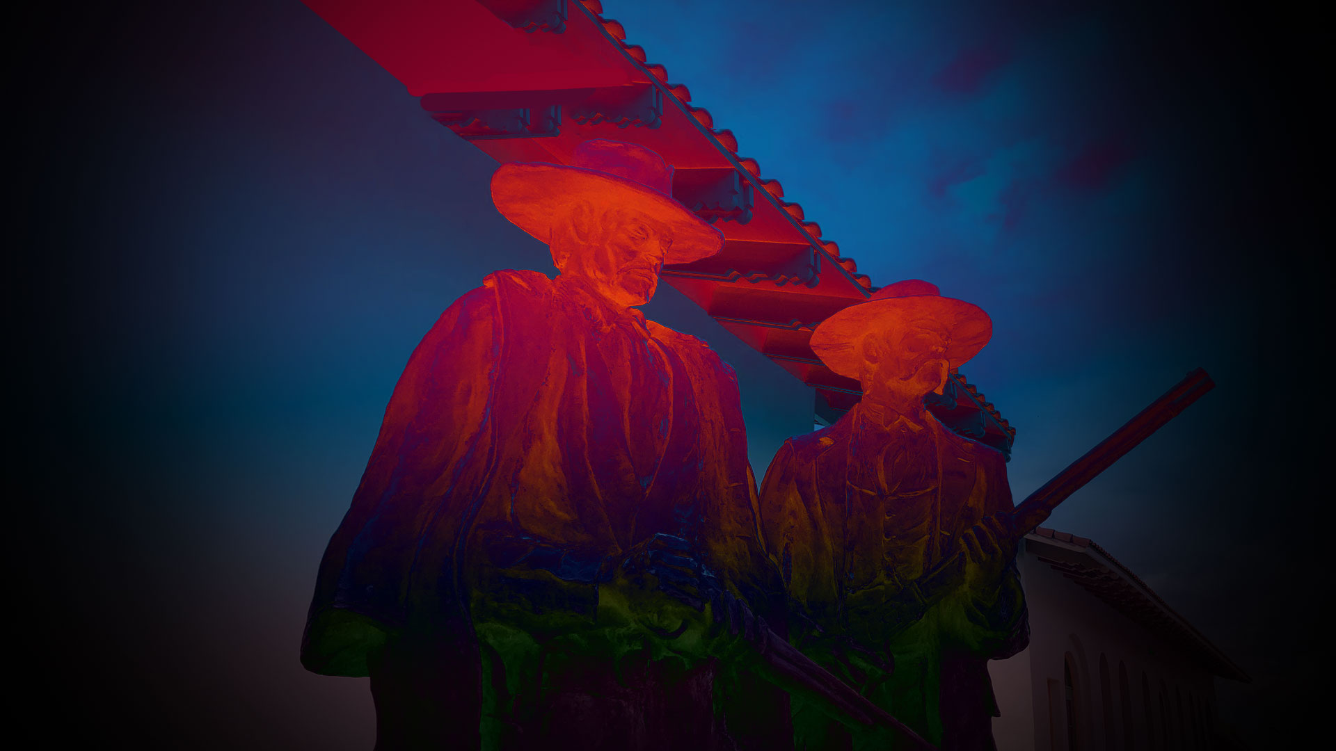 AZ Spotlight Haunted Halloween Wyatt Earp statue
