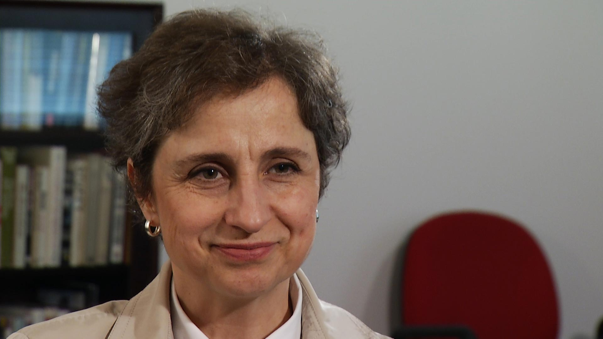 Mexican journalist Carmen Aristegui during an interview with Arizona 360 in October 2018.