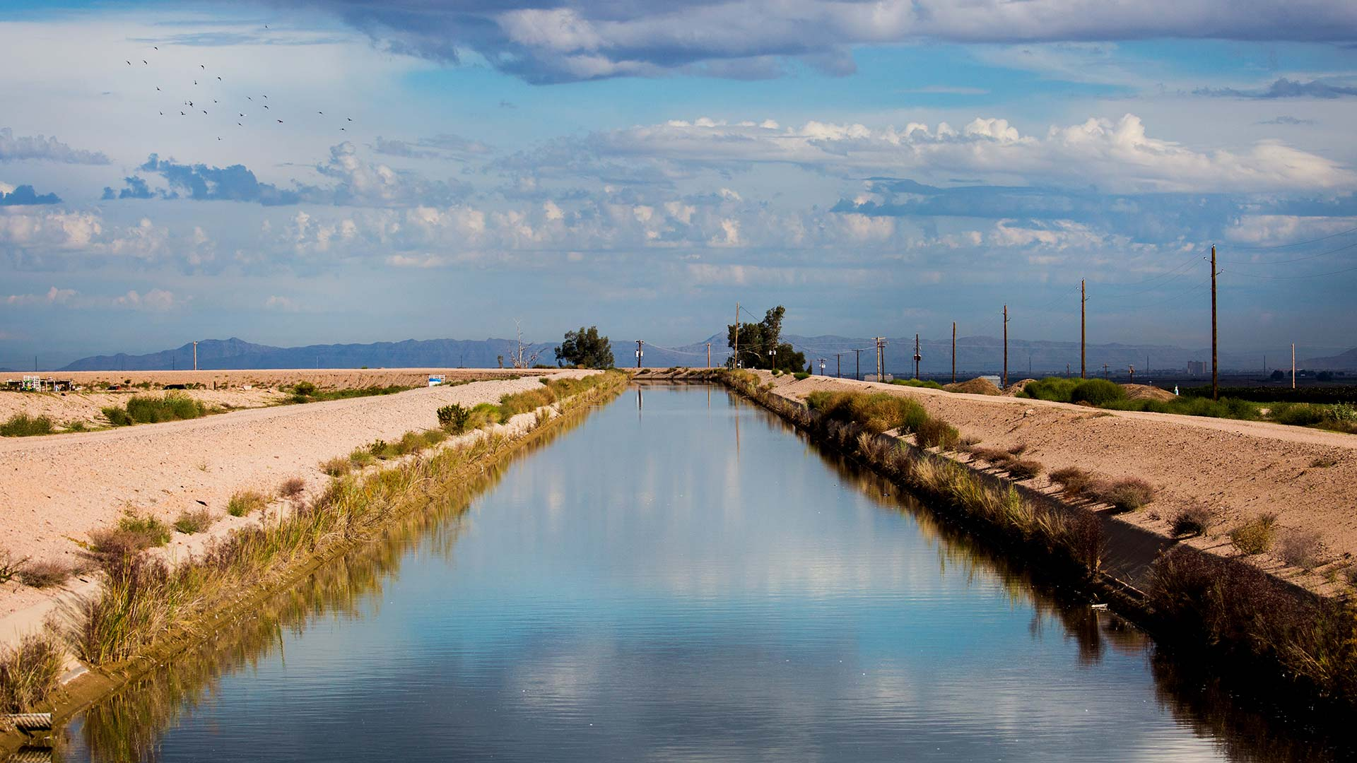 The Santa Rosa Canal ferries Central Arizona Project water to farmland within the Maricopa Stanfield Irrigation and Drainage District, Oct. 23, 2018.