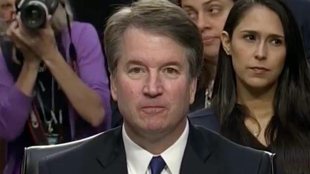 Supreme Court nominee Brett Kavanaugh, on the first day of his confirmation hearings.
