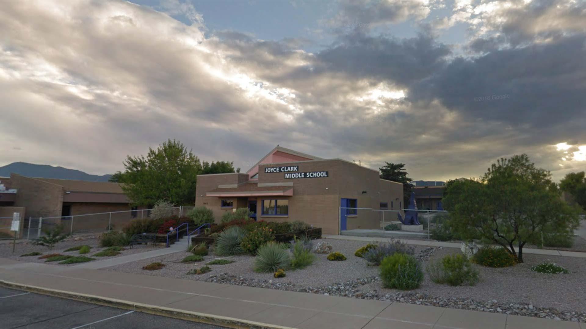 A Google Street View image of Joyce Clark Middle School in Sierra Vista.