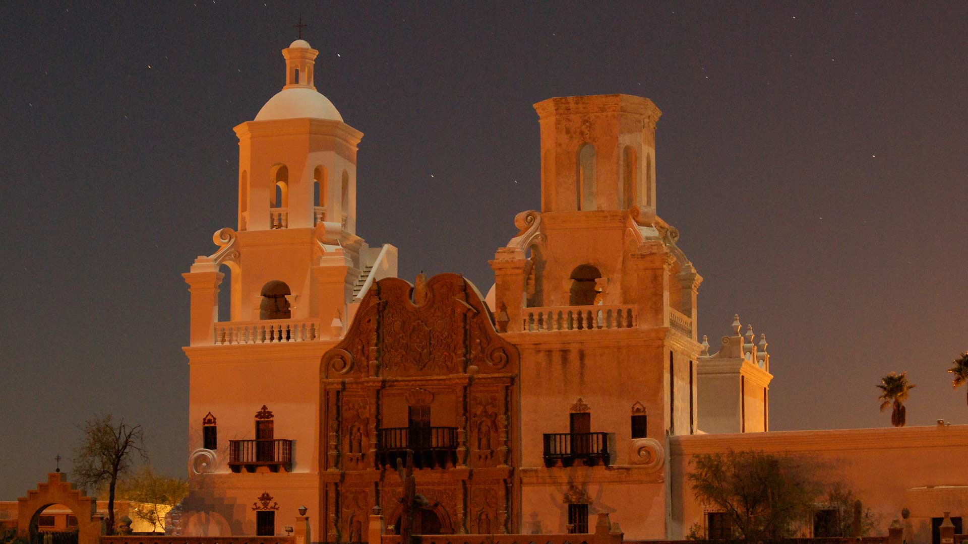 The San Xavier del Bac Mission, January 2009.