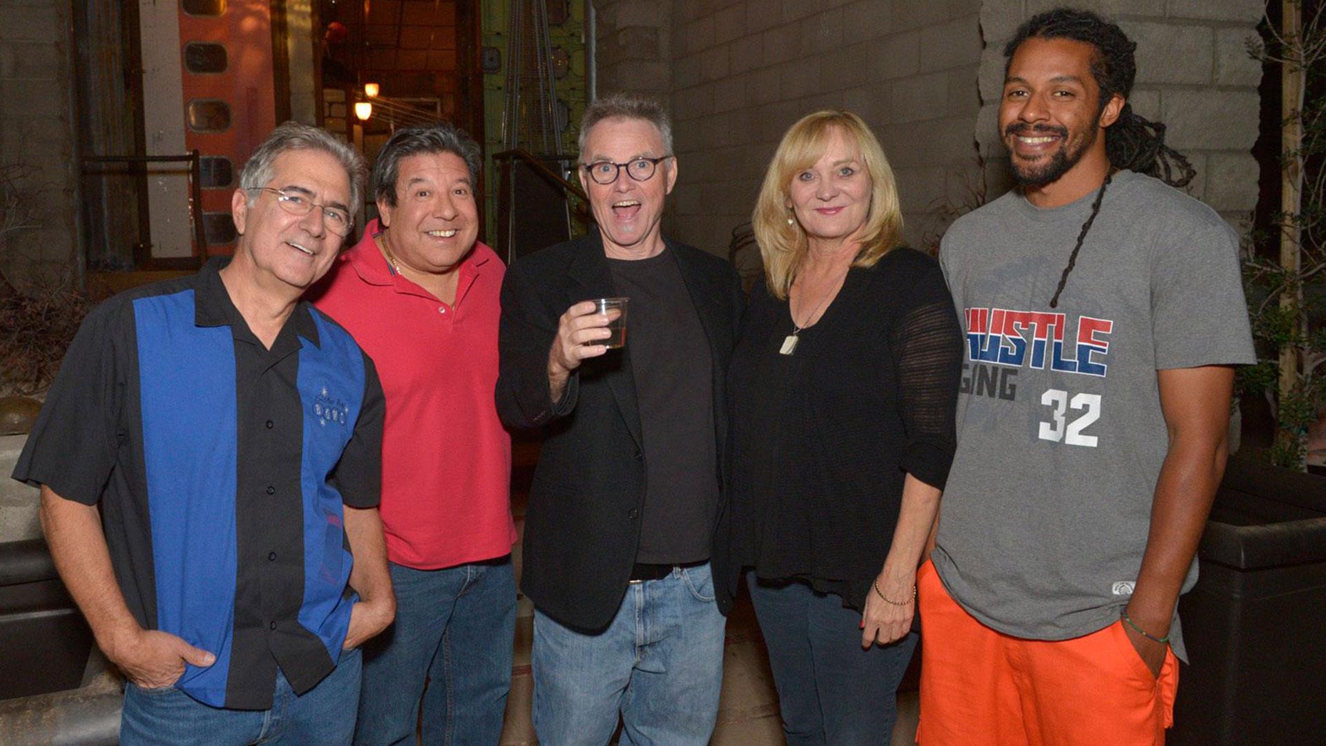 Nancy Stanley with men