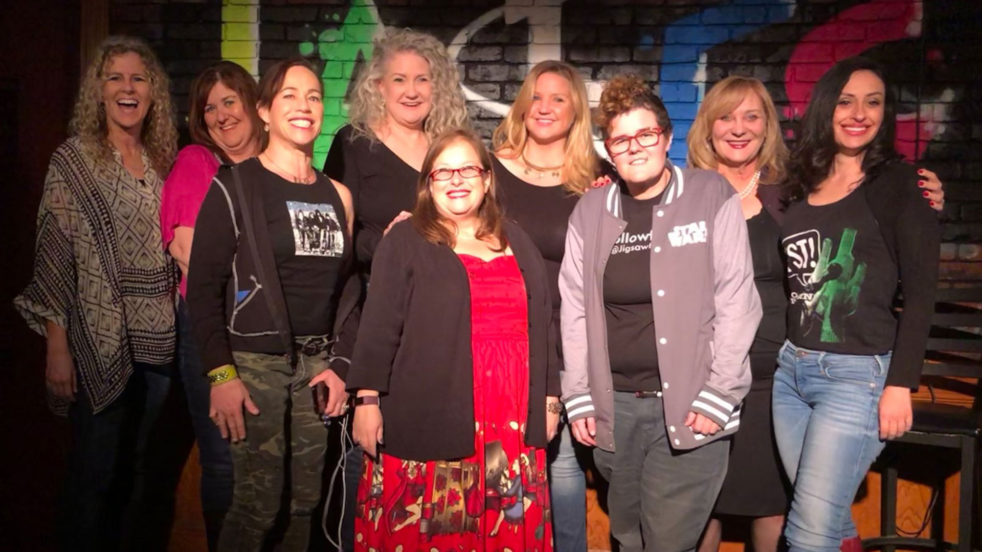 Nancy Stanley with women