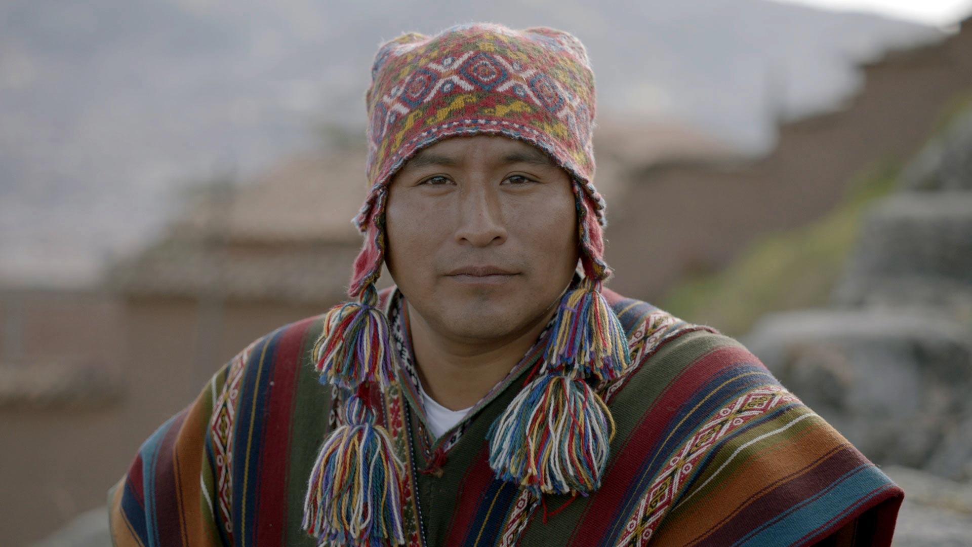 Quechua shaman Puma leads a renewal ceremony at an ancient shrine above Cusco - the former capital of the Inca Empire.