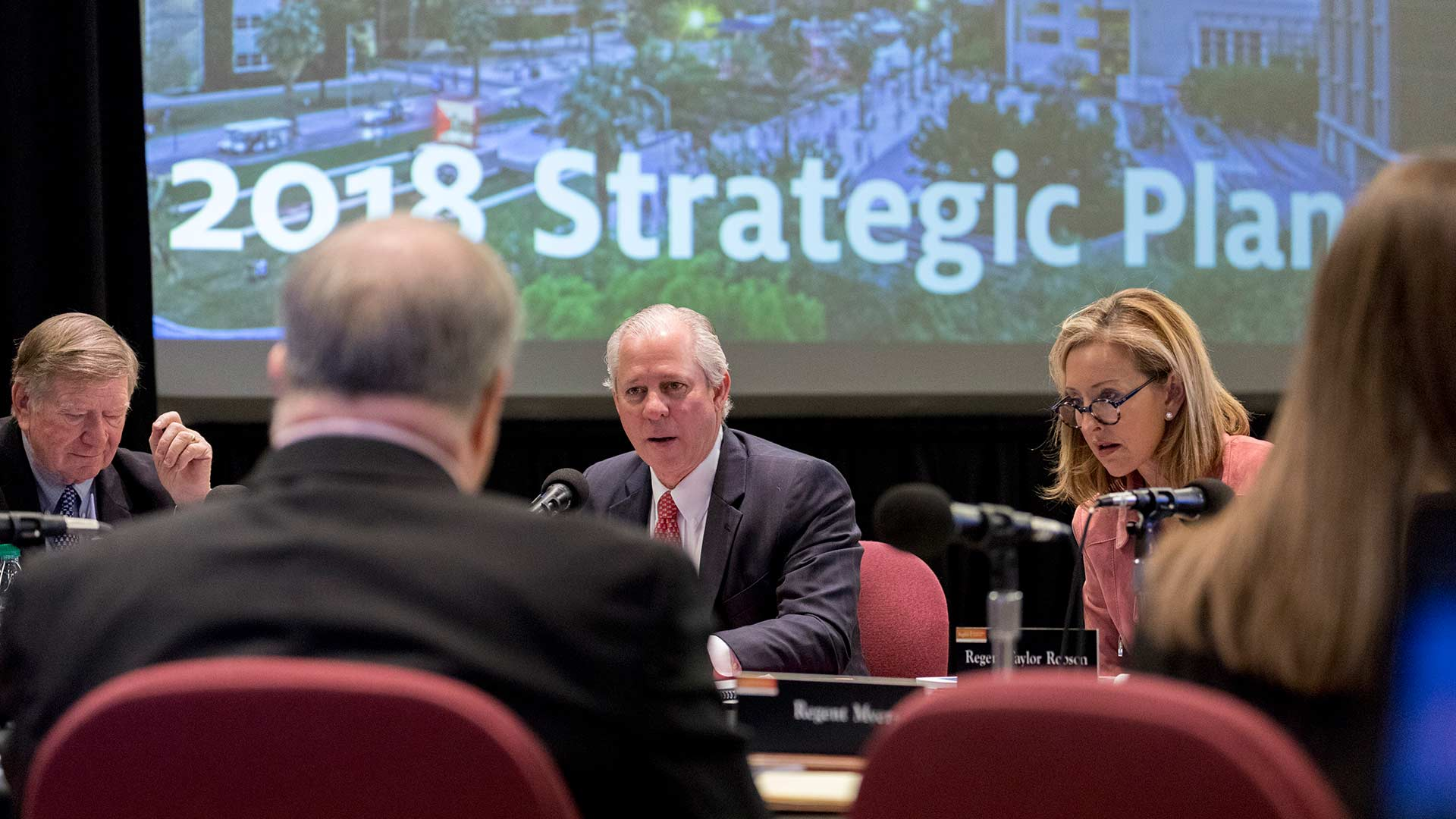 UA President Robert Robbins presents the 2018 Strategic Plan to the Arizona Board of Regents.