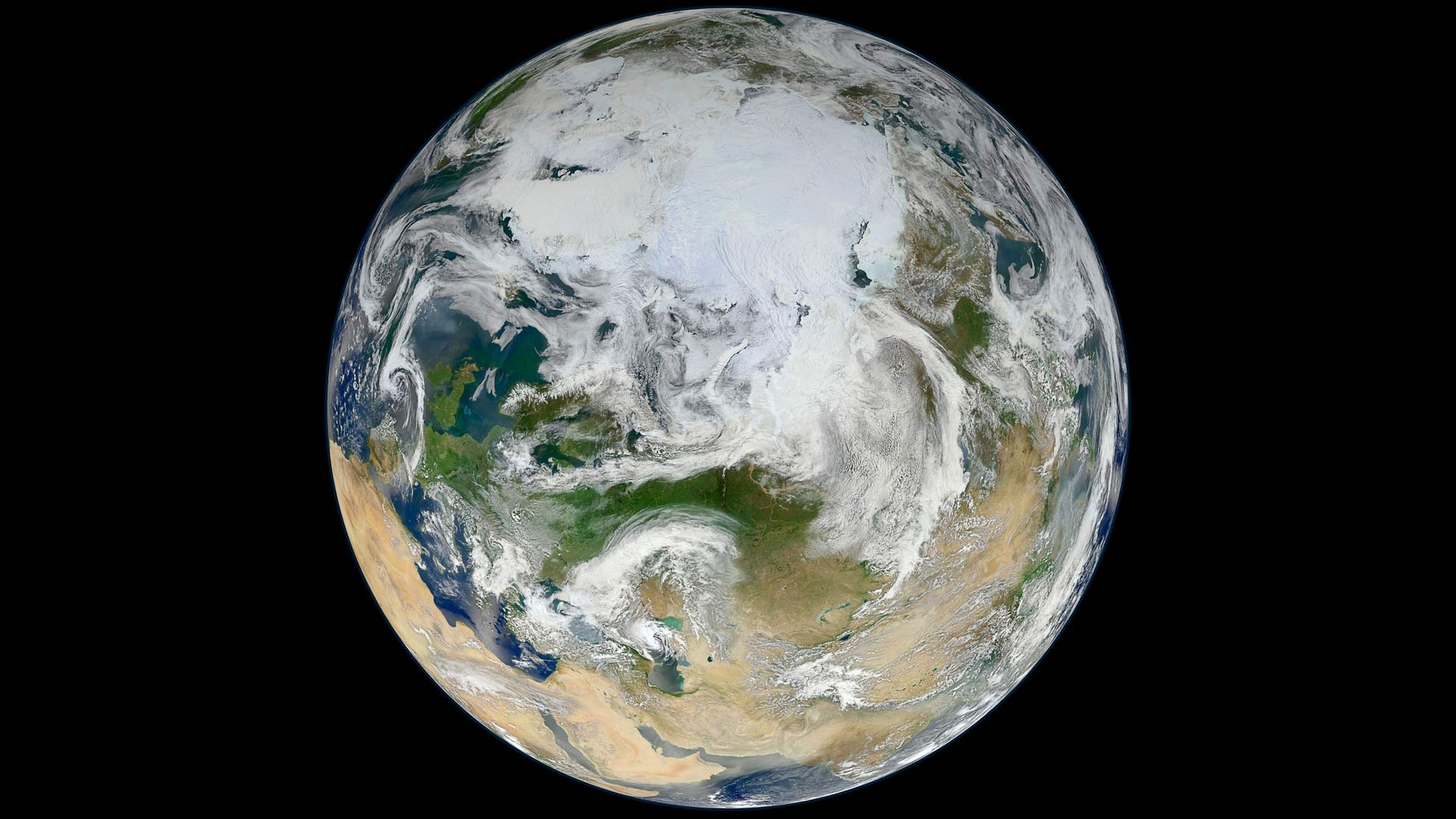 Earth's North Polar region.