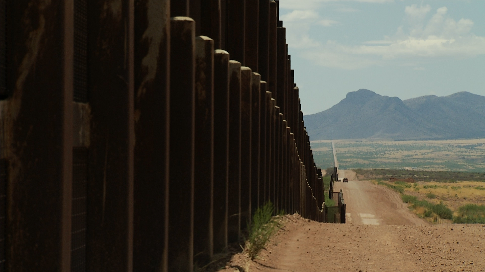A file image of the U.S.-Mexico border wall in Arizona.