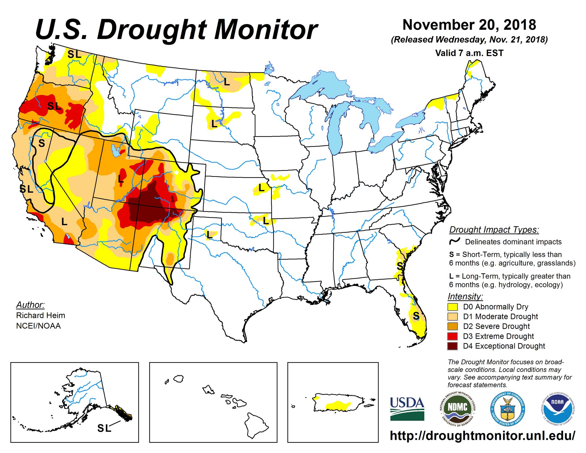drought monitor 20181121