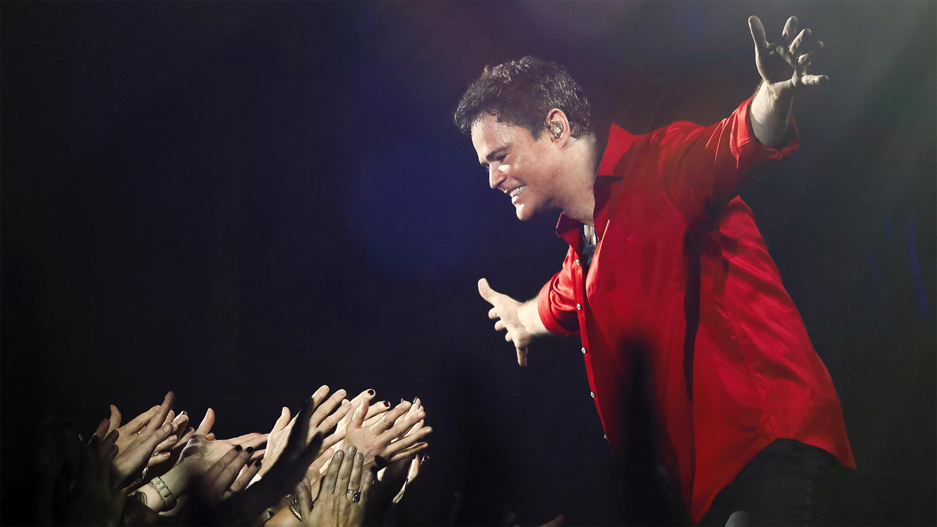 Donny Osmond performs at the Birmingham National Exhibition Center, the final performance of his sold-out 2017 UK arena tour.