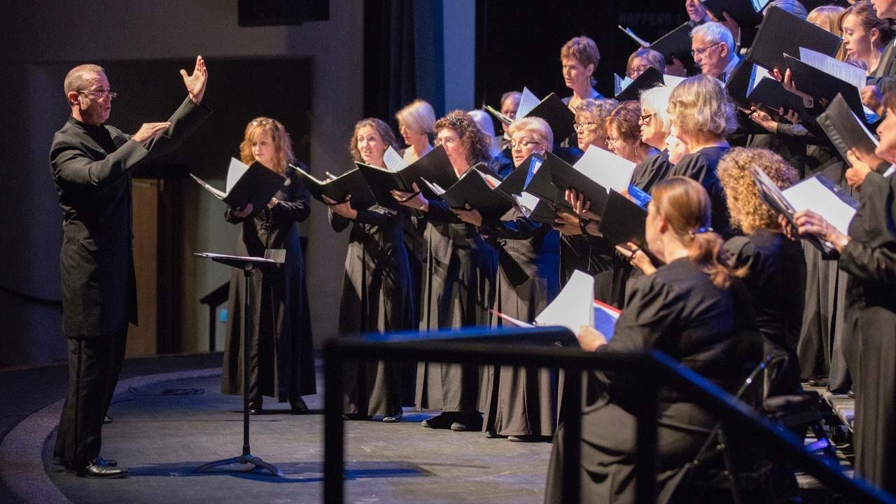 A performance of the Arizona Repertory Singers with Elliot Jones conducting.