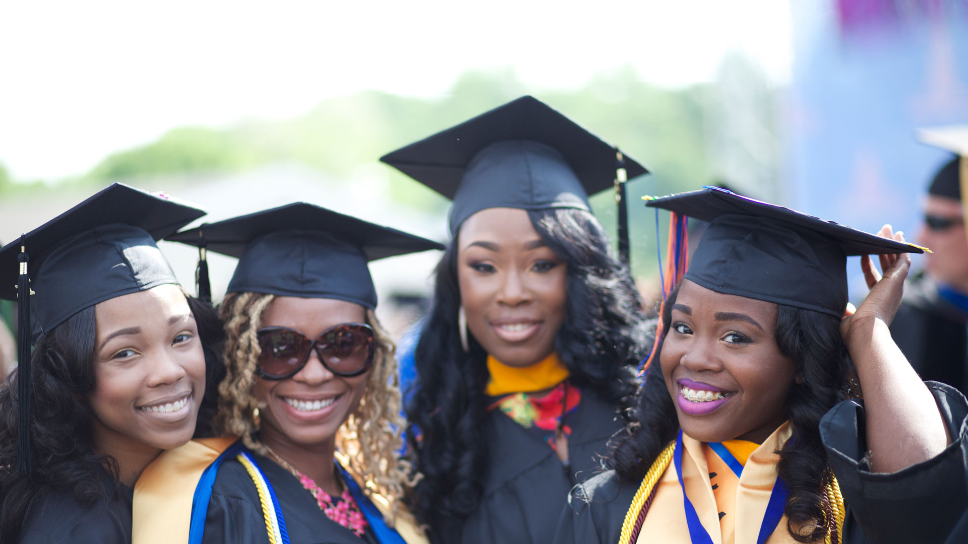 Recent graduates of Morgan State University, Maryland.