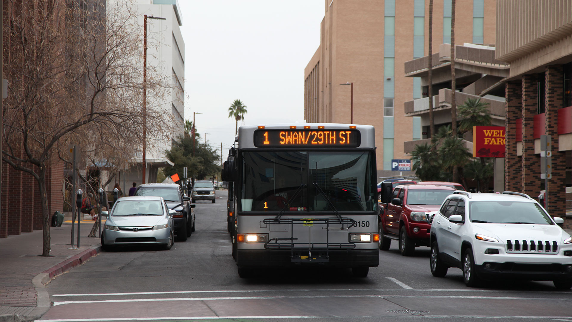 Suntran bus downtown Tucson