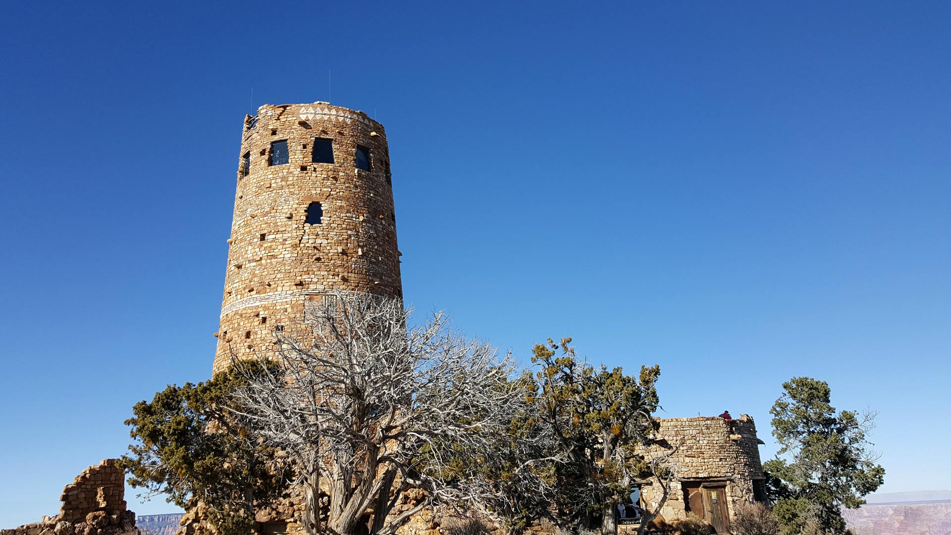 The Desert View Watchtower, in the Grand Canyon.