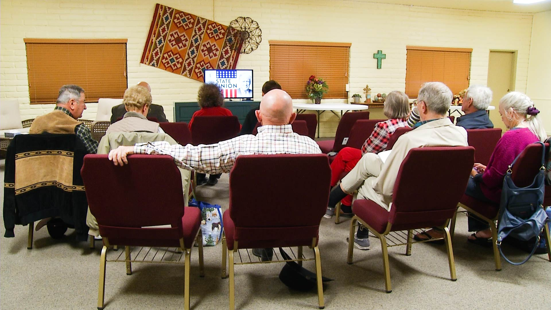 Southern Arizona residents watch the 2018 State of the Union address.