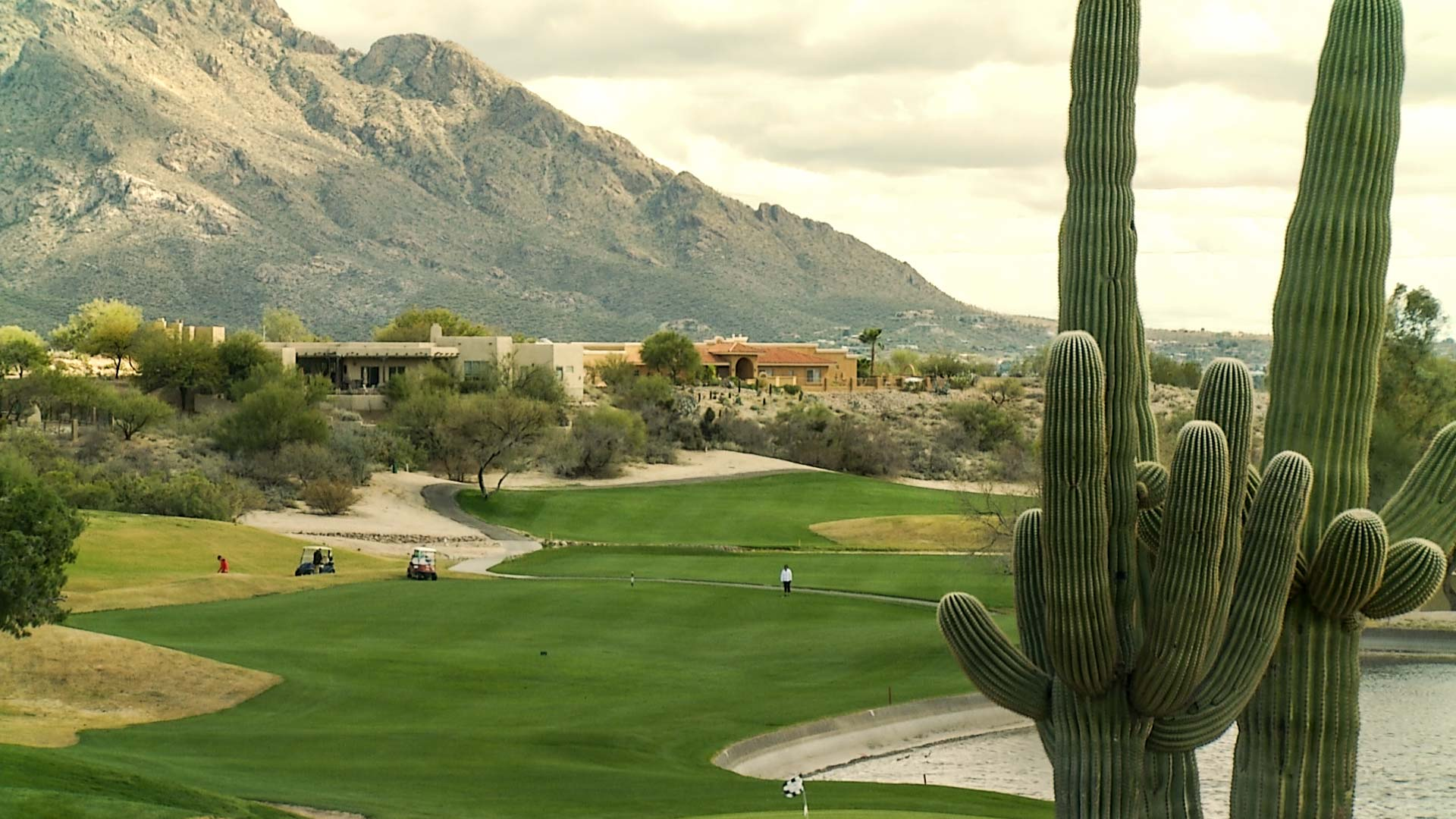 A golf course in Oro Valley.