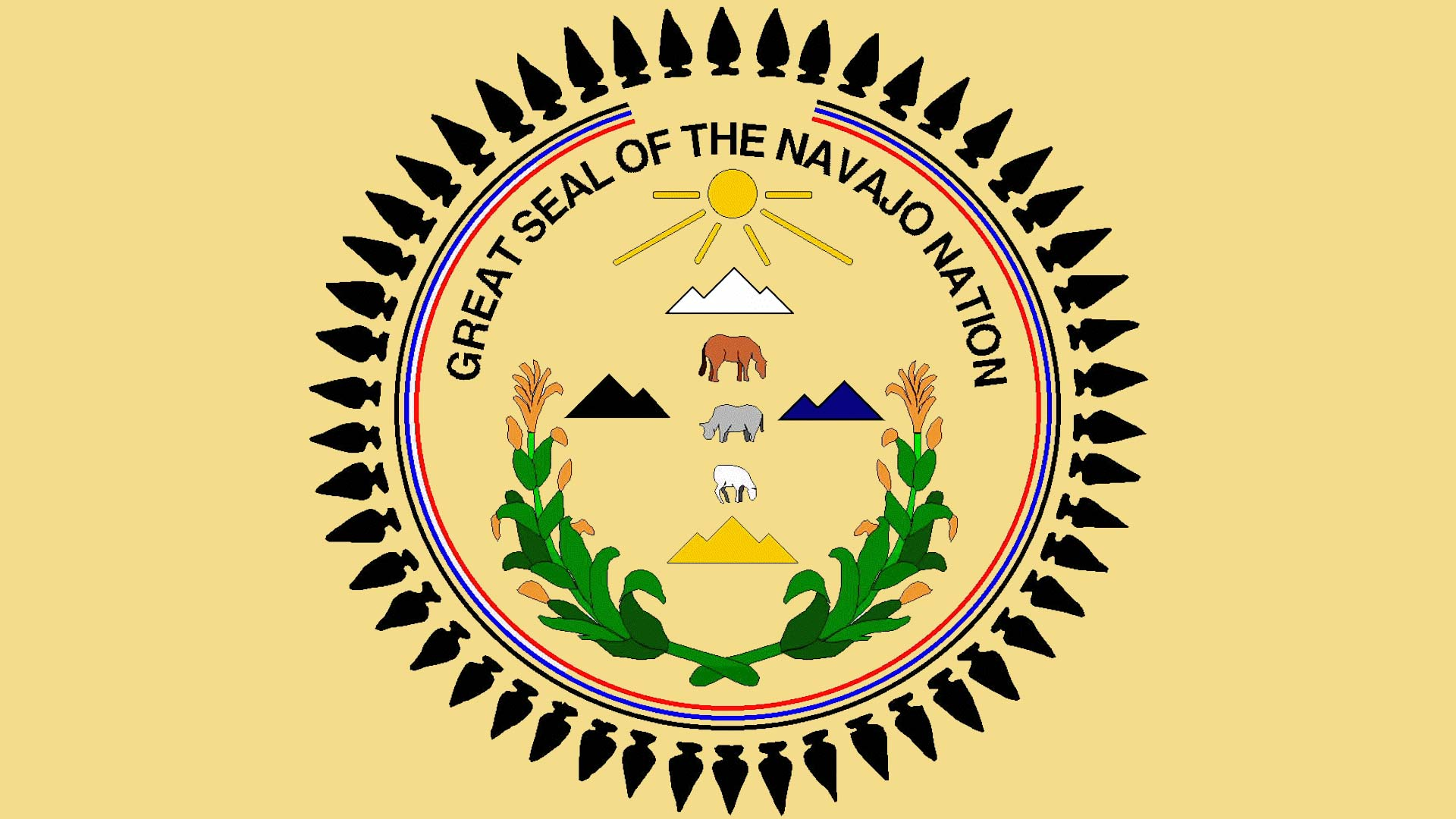 Great seal of the Navajo Nation.