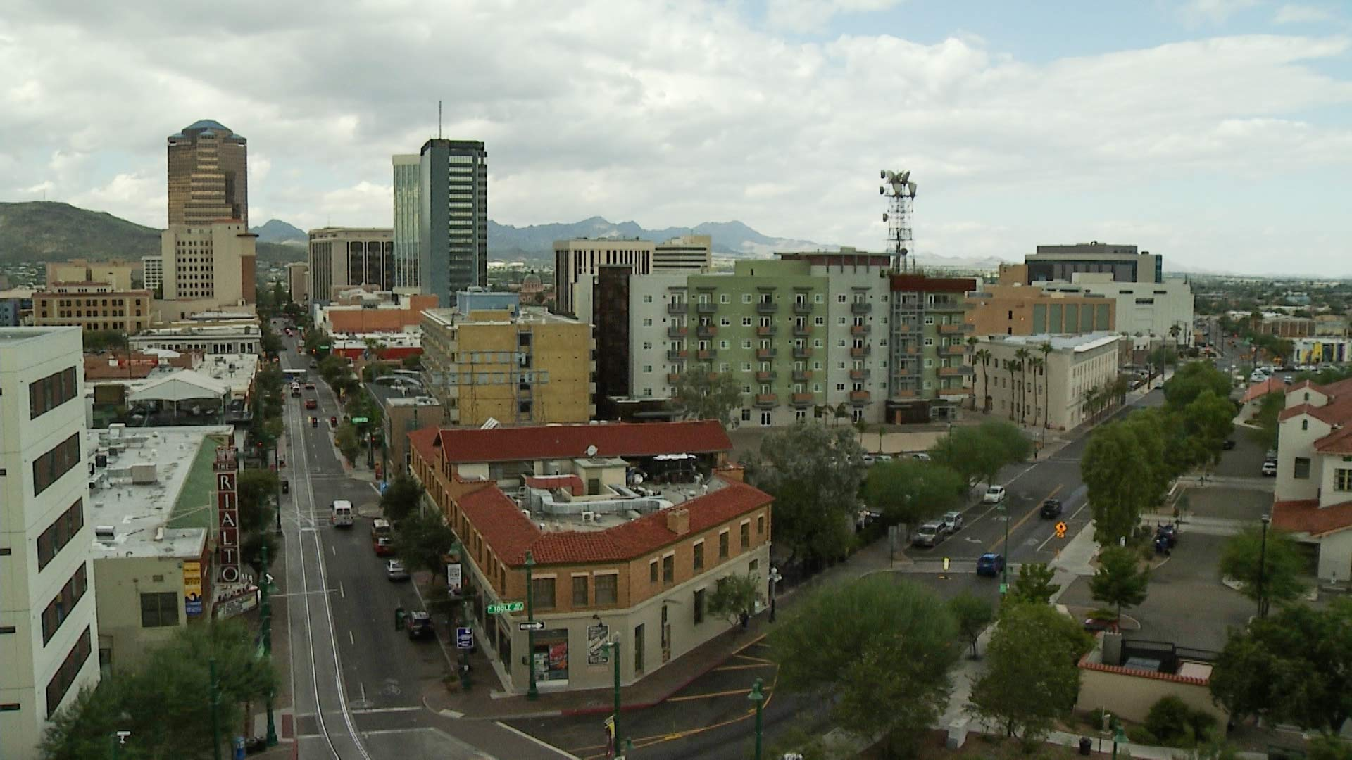 Downtown Tucson aerial hero