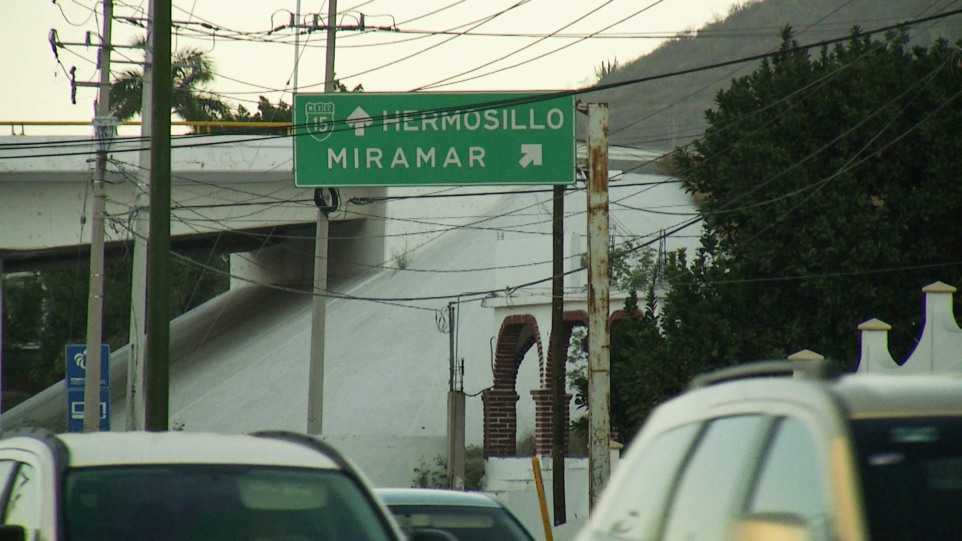 File photo of a highway sign to Hermosillo, Mexico.