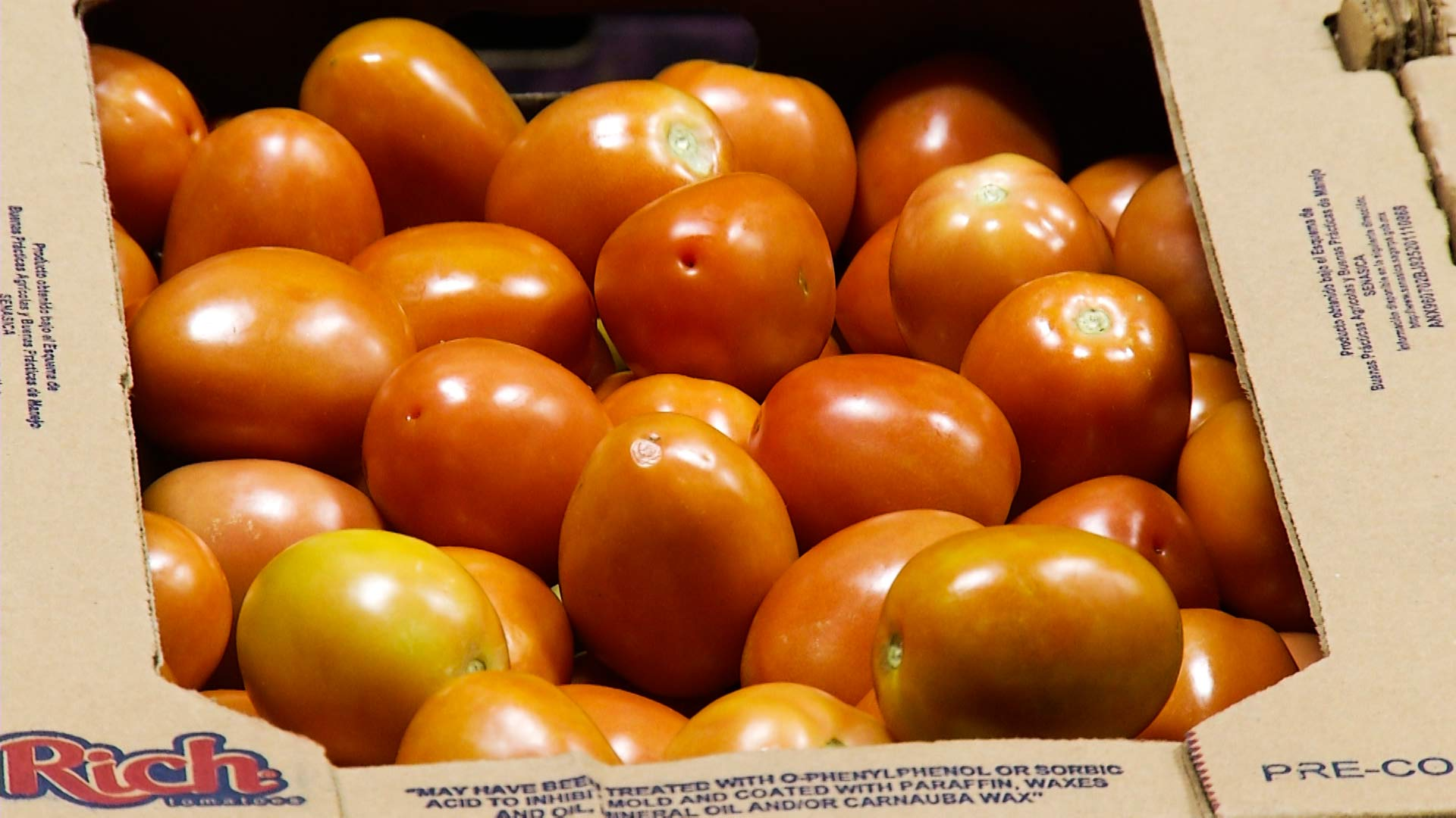 Tomatoes on their way north across the U.S.-Mexico border.