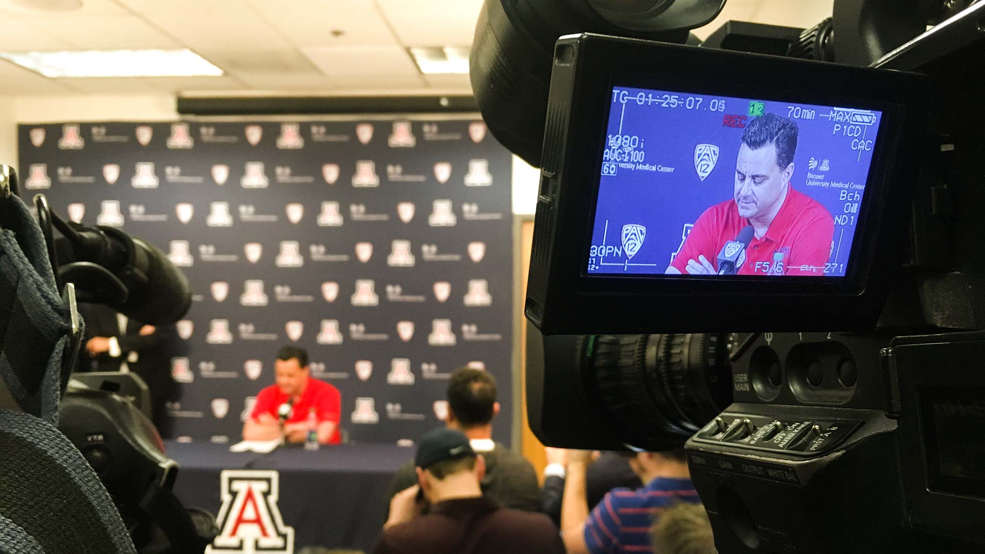 University of Arizona men's basketball coach Sean Miller at a March 1 press conference.