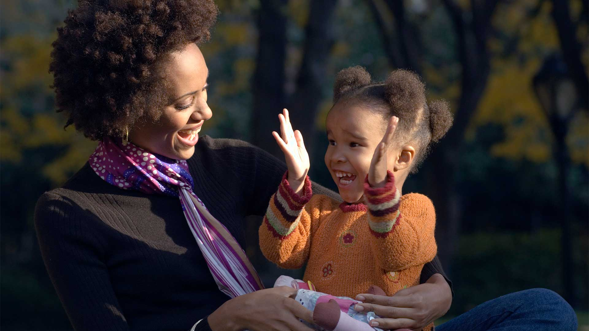 mother daughter kids laughing pbs brand hero