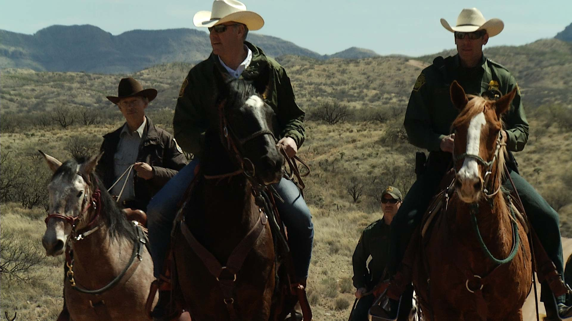 Inter Secretary Ryan Zinke tours the Arizona-Mexico border on horseback outside Sasabe, March 2018.