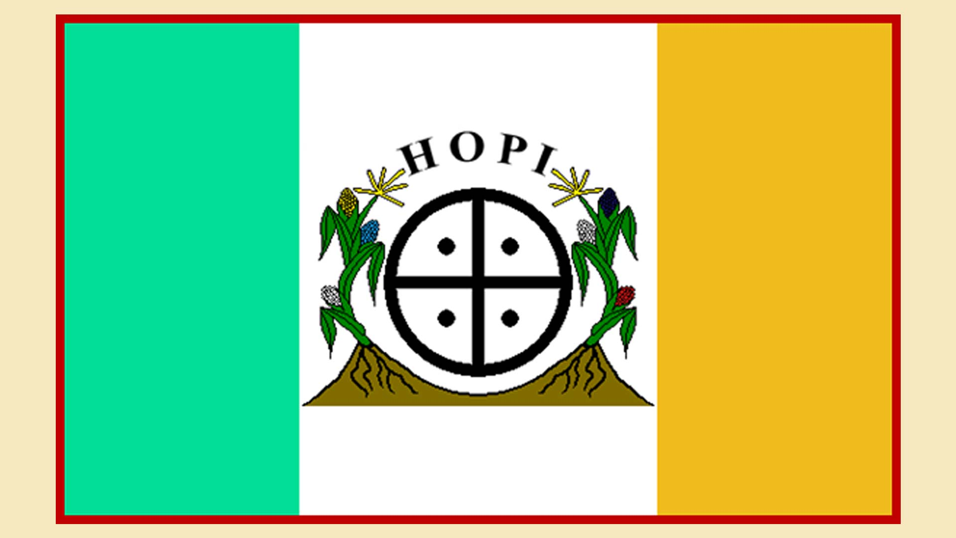 Flag of the Hopi Nation, adapted from www.hopi-nsn.gov.