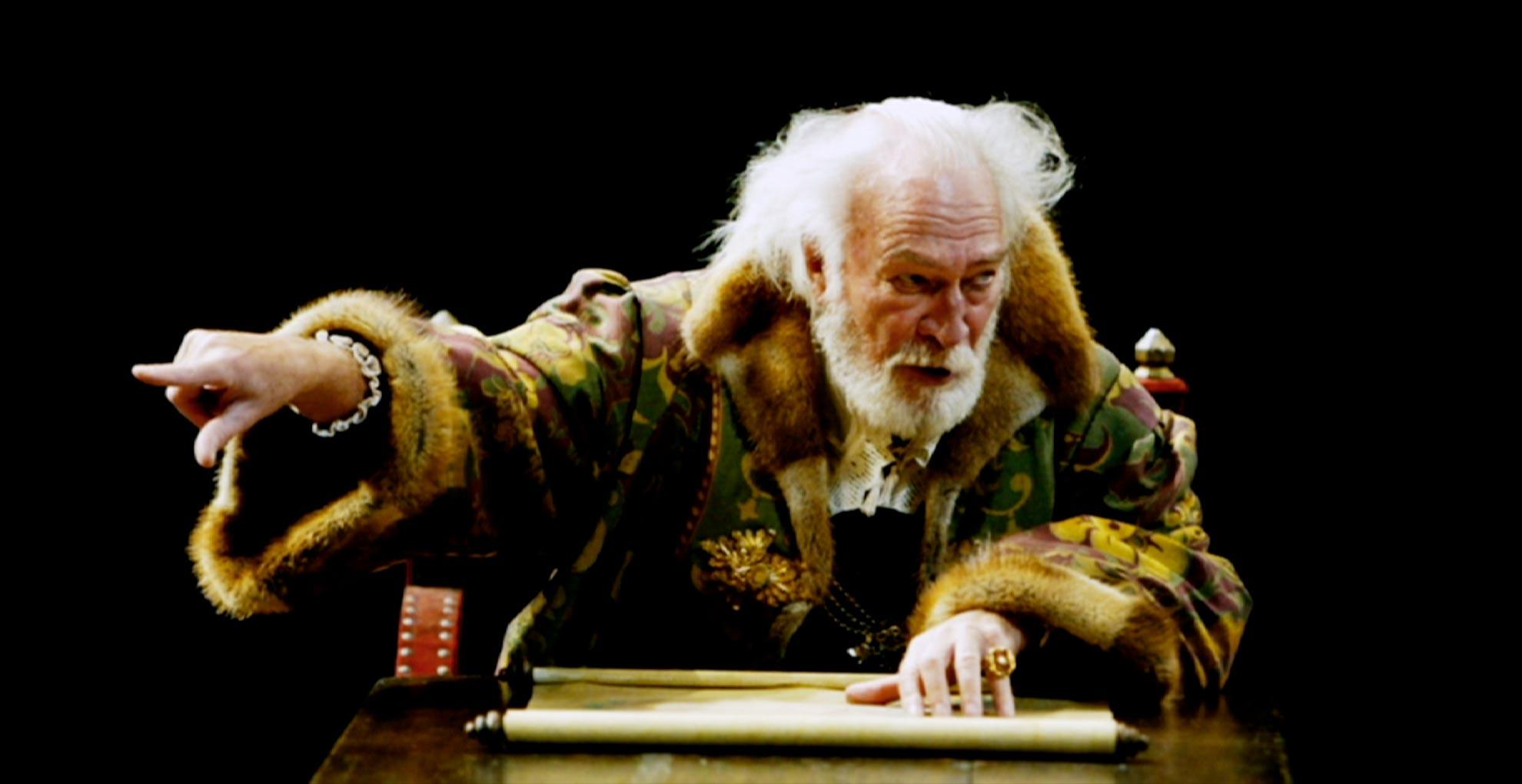 Christopher Plummer as King Lear