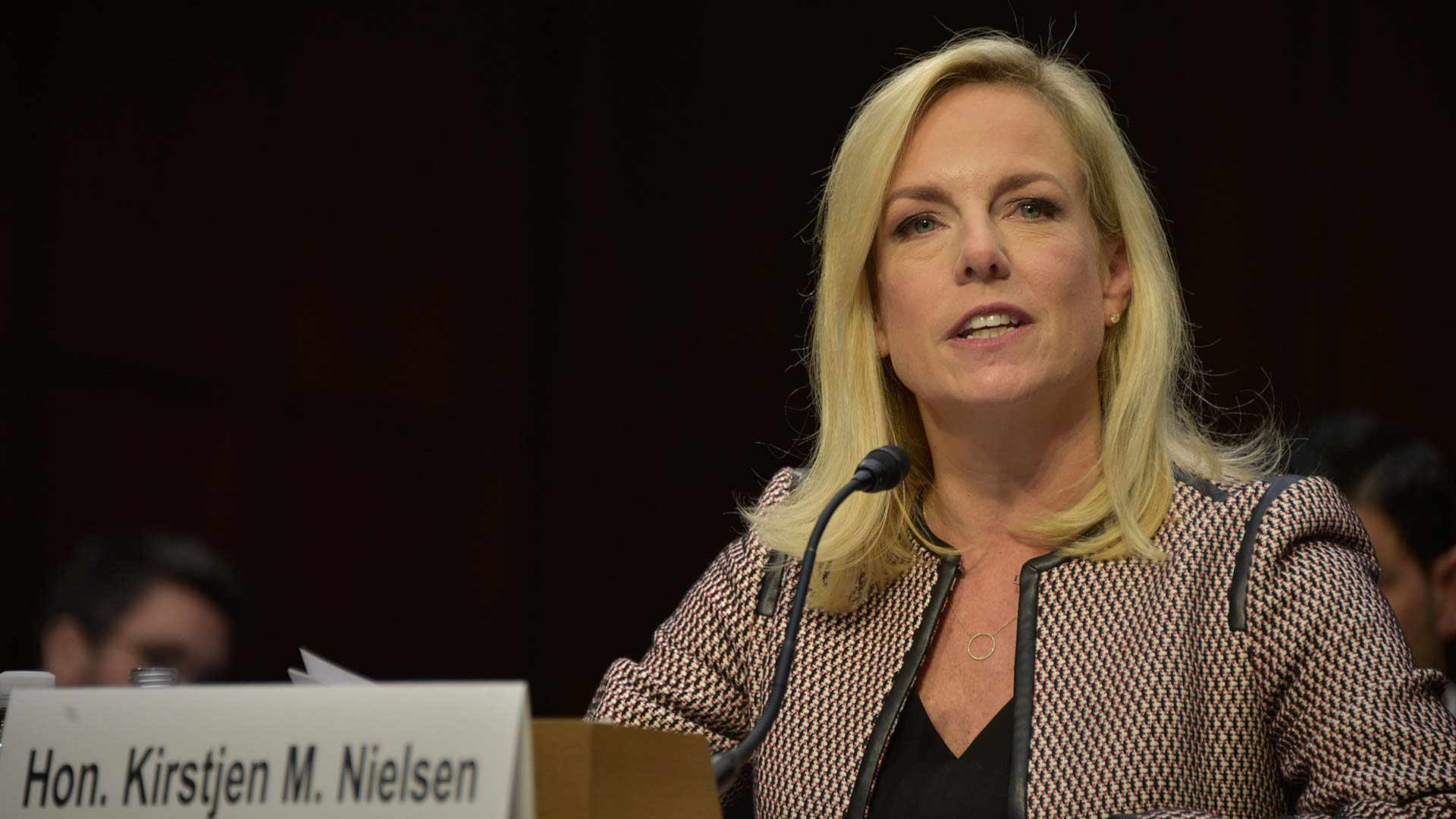 Secretary Kirstjen M. Nielsen testifying before the Senate Judiciary Committee, Jan. 16, 2018.