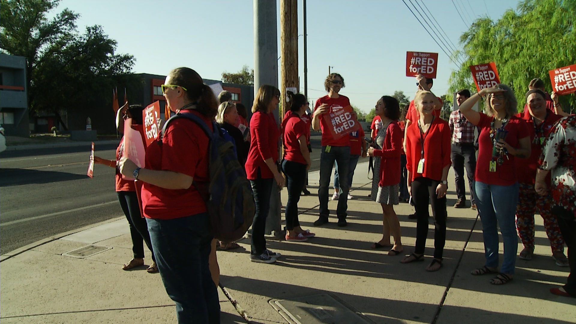 Red For Ed protests at Amphitheater High School in Tucson.
