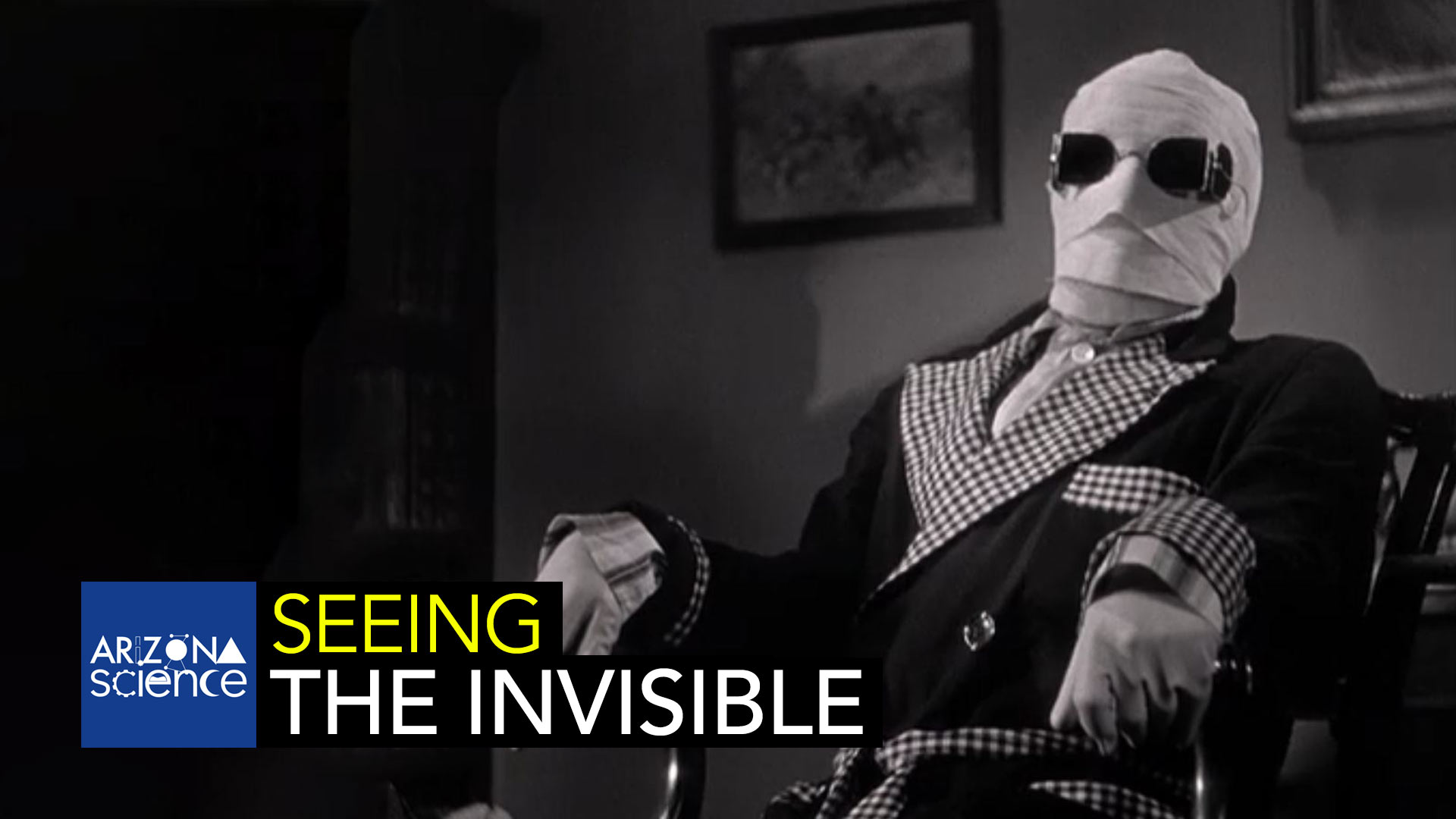 A still from the 1933 film adaptation of H.G. Wells' science fiction novel, The Invisible Man.