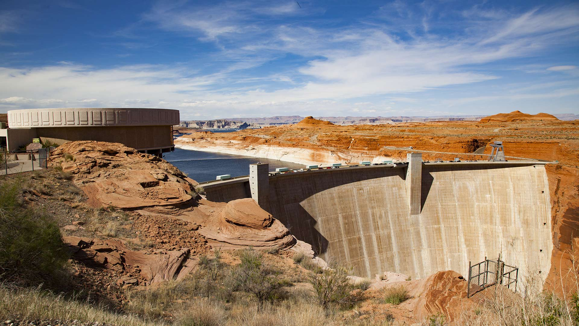 The Glen Canyon Dam, April 2018.