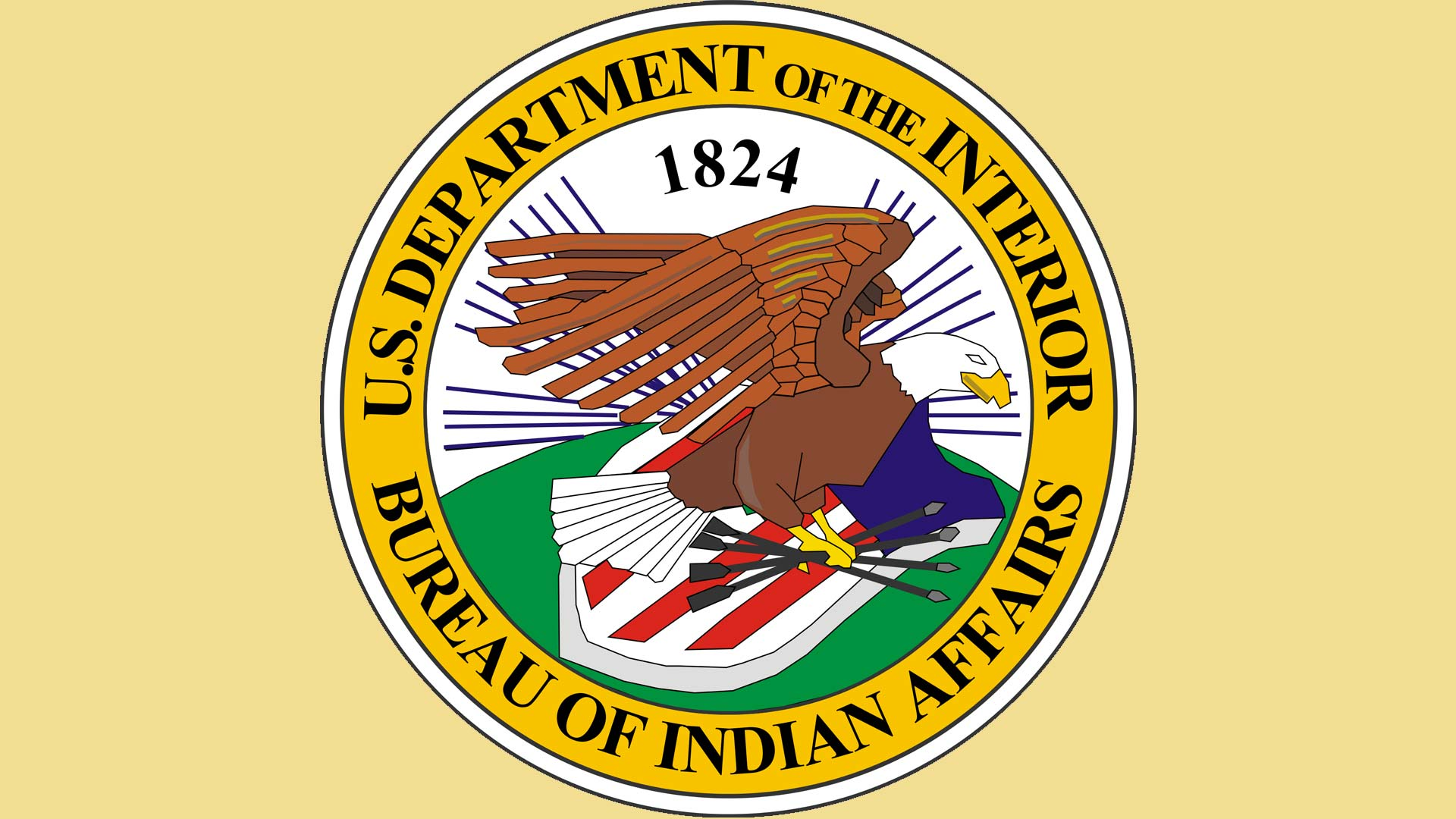 Seal of the Bureau of Indian Affairs.