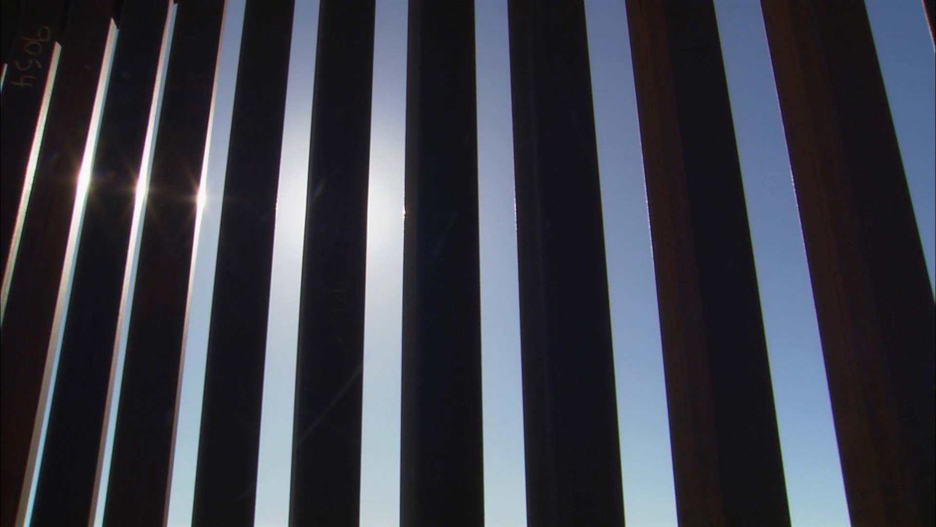 A section of the barrier separating the U.S. and Mexico.