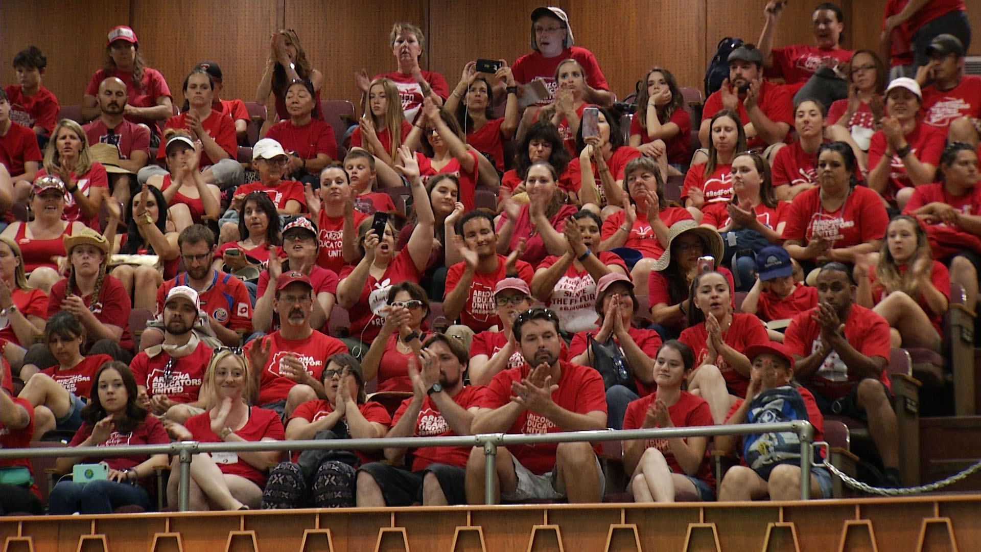 Red For Ed Supporters at Arizona's Capitol